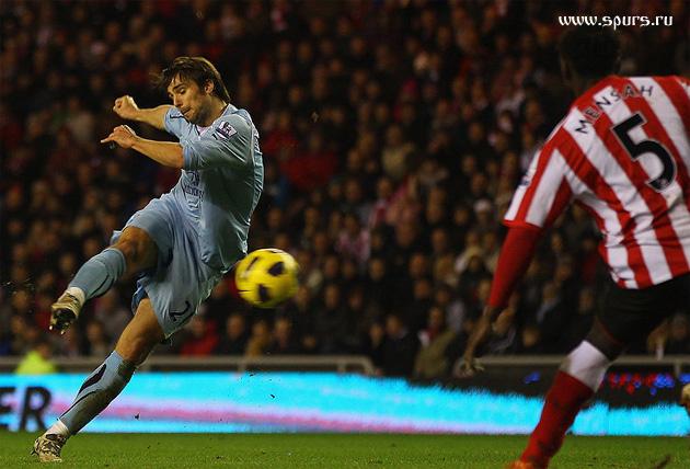 Нико Кранчар забивает победный гол в матче Сандерленд – Тоттенхэм Хотспур 1:2 (февраль 2011-го)