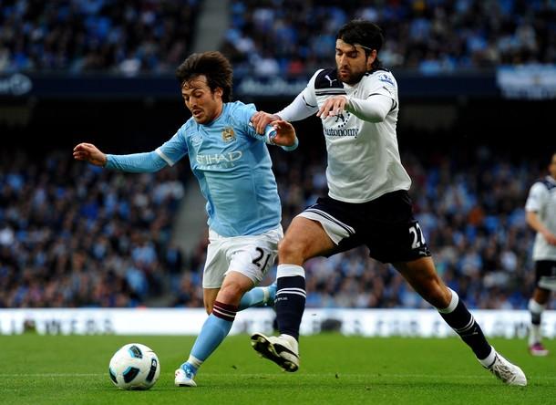 Ведран Чорлука в матче Манчестер Сити - Тоттенхэм Хотспур 1:0  (10,05,2011)