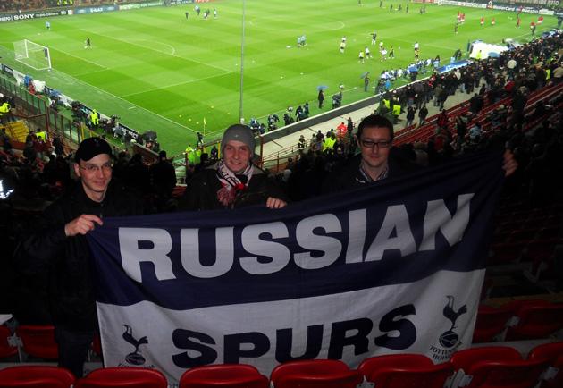 Русские Шпоры в Милане на матче 1/8-финала Лиги Чемпионов Милан - Тоттенхэм 0:1