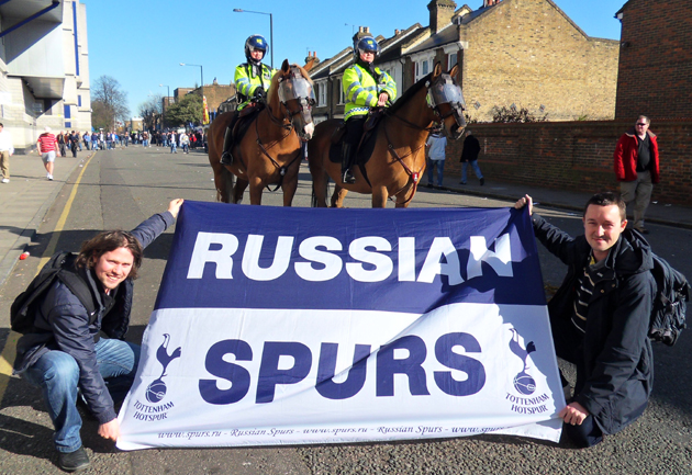Выезд Russian Spurs на матч «Тоттенхэм Хотспур» - «Вест Хэм» (фото)
