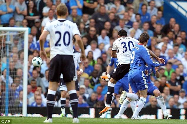 Кордейро Сандро забил свой первый гол в Англии в матче Челси - Тоттенхэм Хотспур 2:1