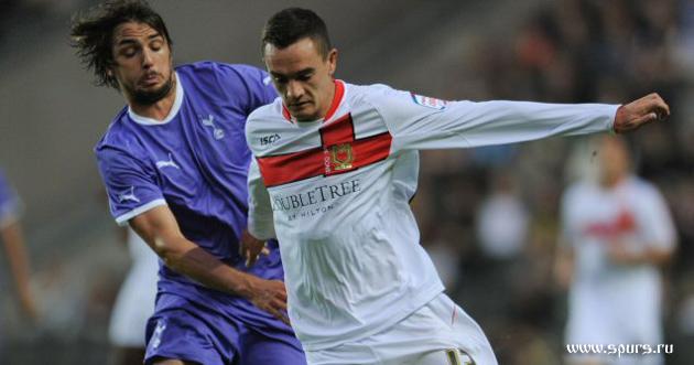 Нико Кранчар в матче МК Донс – Тоттенхэм Хотспур (резерв) 3:5 (июль 2011-го)