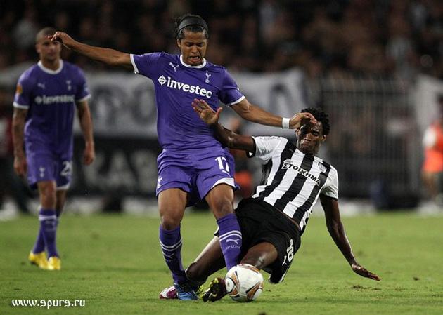 Джовани дос Сантос против Лино: ПАОК - Тоттенхэм Хотспур 0:0