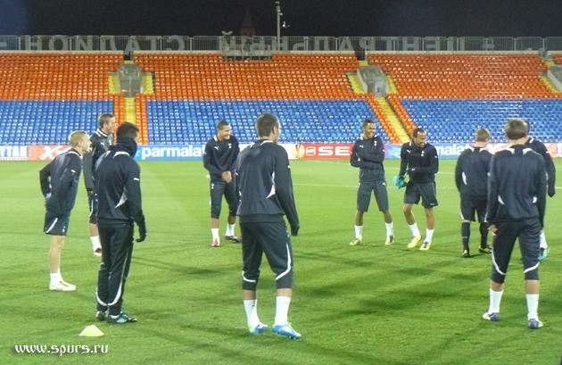 Тренировка накануне матча с Рубином - Тоттенхэм Хотспур в Казани