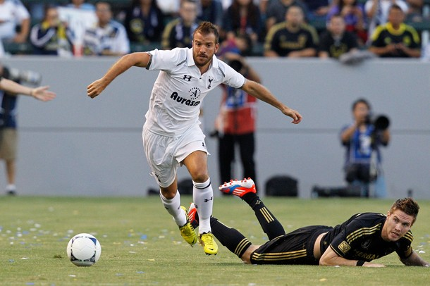 Рафаэль ван дер Ваарт в матче Лос Анджелес Гэлакси - Тоттенхэм Хотспур 1:1