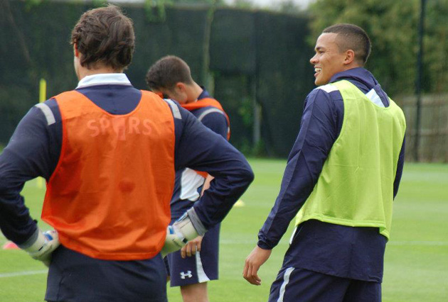 Джермейн Джинас на первой тренировке Тоттенхэм Хотспур перед сезоном 2012/13