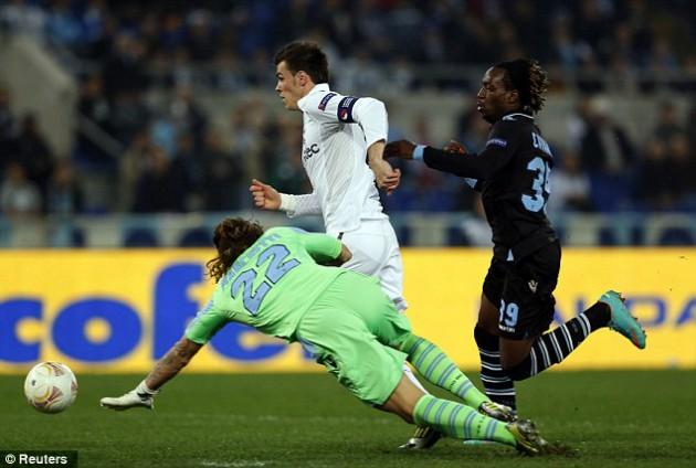 Гарет Бэйл стал автором единственного и, увы, незасчитанного, гола в матче Лацио - Тоттенхэм 0:0