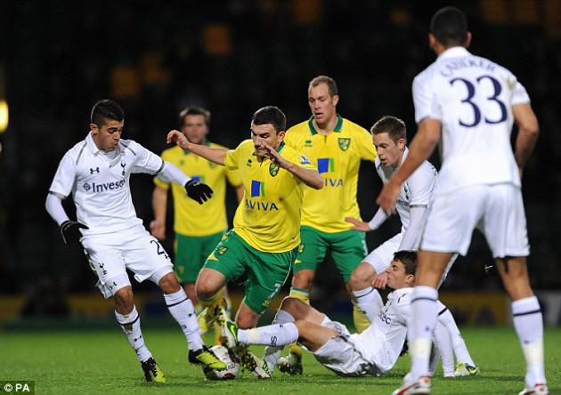 Норвич Сити - Тоттенхэм 2-1 Хотспур Кубок Лиги 2012 2013