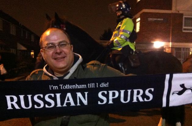 Russian Spurs на матче Тоттенхэм - Марибор (3:1)