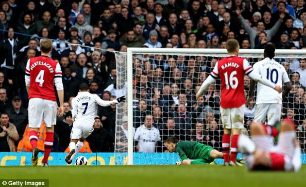 Аарон Леннон ставит победную точку в Дерби Северного Лондона Тоттенхэм - Арсенал 2:1