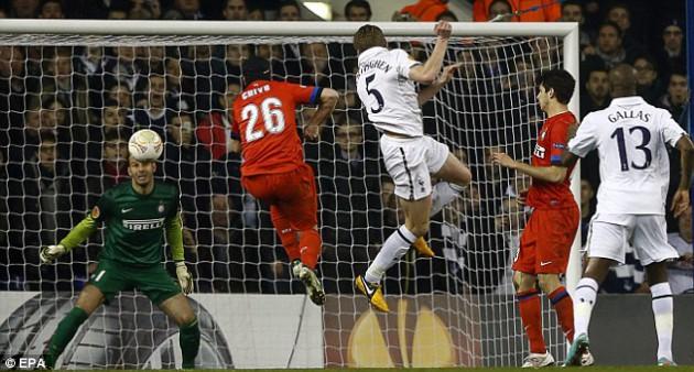 Ян Вертонген устанавливает окончательный счёт в игре Тоттенхэм - Интер Милан 3:0