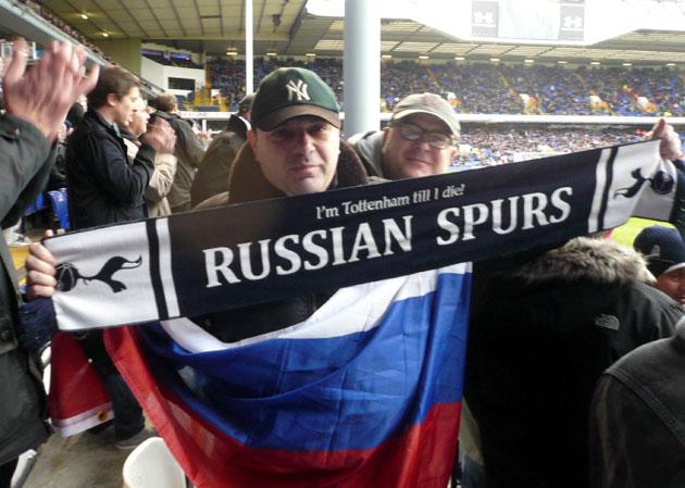 Russian Spurs на матче Тоттенхэм - Фулхэм (0:1) АПЛ 2012/13