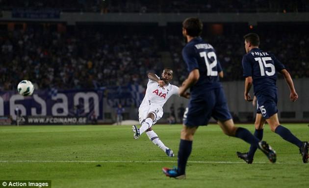 Дэнни Роуз забил потрясающий гол в игре Динамо Тбилиси - Тоттенхэм 0:5