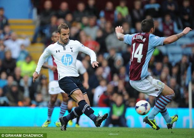 Роберто Сольдадо отметился забитым голом в матче Астон Вилла - Тоттенхэм Хотспур 0-2