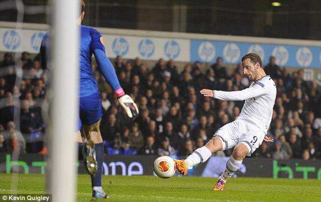Роберто Сольдадо сделал хет-трик в матче Тоттенхэм – Анжи 4:1