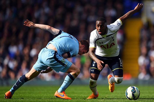 Дэнни Роуз  в игре Тоттенхэм Хотспур - Манчестер Сити 0-1