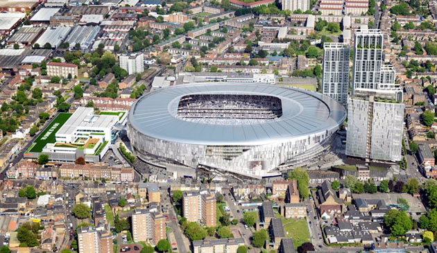 """Новый стадион """"Тоттенхэм Хотспур"""" на 61,000 болельщиков (дневной вид)"""
