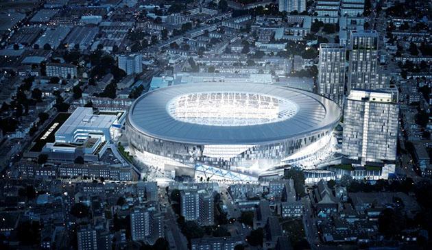 """Новый стадион """"Тоттенхэм Хотспур"""" на 61,000 болельщиков (ночной вид)"""