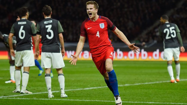 Эрик Дайер забил свой дебютный гол за сборную Англии в матче с Германией
