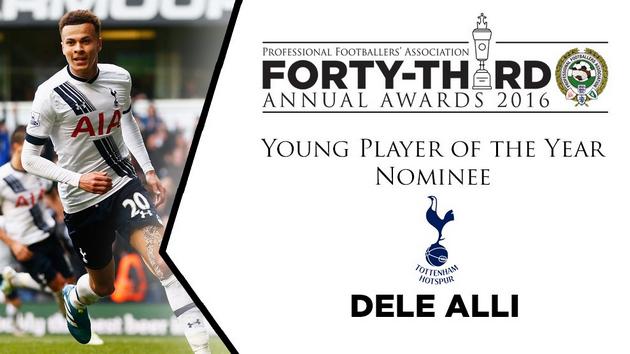 Деле Алли номинирован в категории лучшего молодого игрока сезона 2015/16