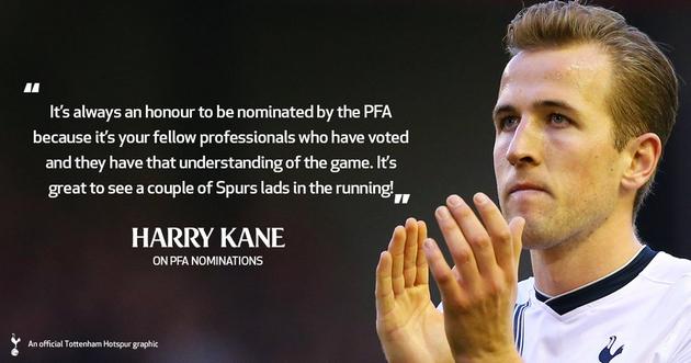 """Харри Кэйн: """"Большая честь быть номинированным профессионалами, понимающими в игре"""""""