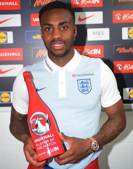 Дэнни Роуз - лучший игрок матча Англия-Турция