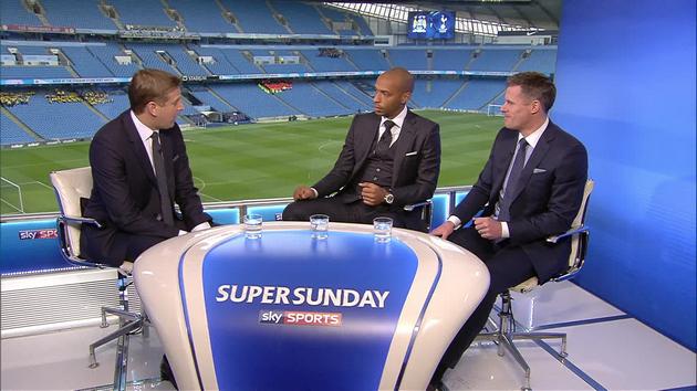 Тьерри Анри и Джейми Каррагер в студии Sky Sports