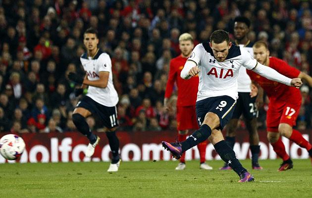 Винсент Янссен забил в ворота Ливерпуля свой 2-я мяч за Тоттенхэм