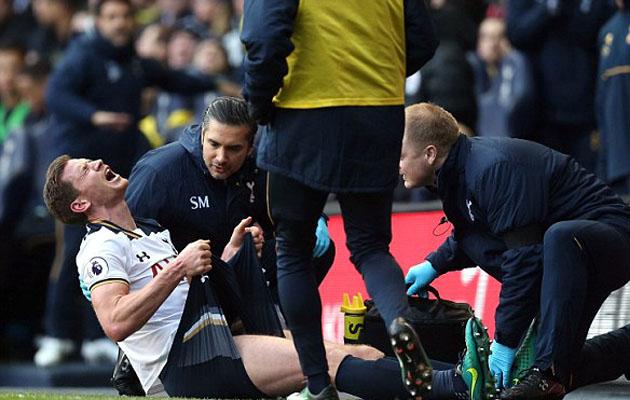 Единственной ложкой дёгтя в матче Шпор с Вест Бромом стала травма Яна Вертонгена