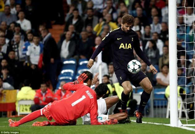 Фернандо Льоренте в матче Реал Мадрид - Тоттенхэм Хотспур 1:1 (Лига Чемпионов 2017/18)