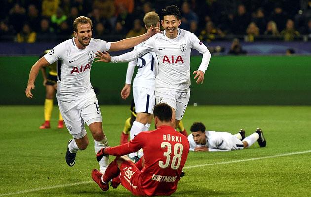 Харри Кэйн и Сон Хын Мин забили по голу в ворота Боруссии Дортмунд