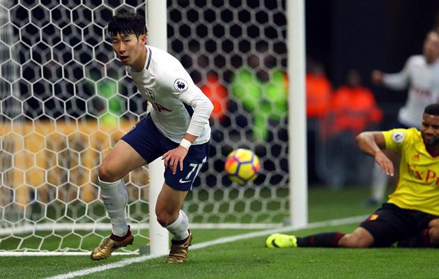 Сон Хын Мин сравнял счёт в матче Уотфорд - Тоттенхэм