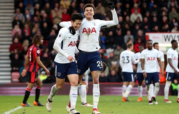 Деле Алли и Сон Хын Мин на пару забили три гола в ворота Борнмута