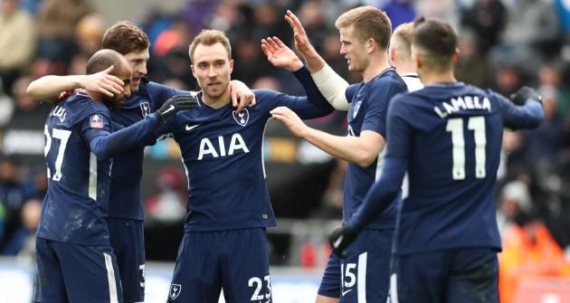 Суонси Сити - Тоттенхэм Хотспур 0:3 (1/4 финала Кубка Англии 2017/18)