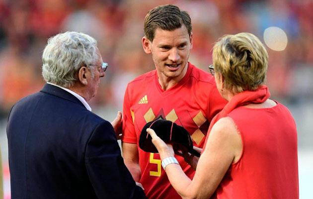 Ян Вертонген сыграл свой сотый матч за сборную Бельгии