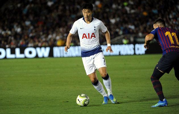 Первый мяч в ворота Барселоны записал на свой счёт Сон Хын Мин