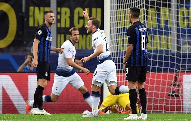 Кристиан Эриксен открывает счёт в матче с Интером