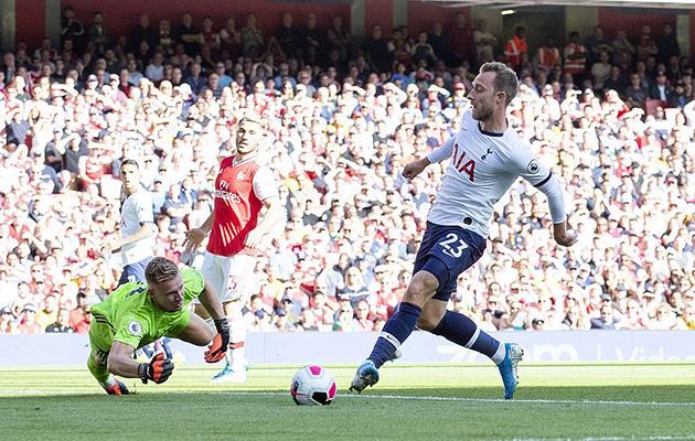 Кристиан Эриксен впервые забил гол в Дерби Северного Лондона