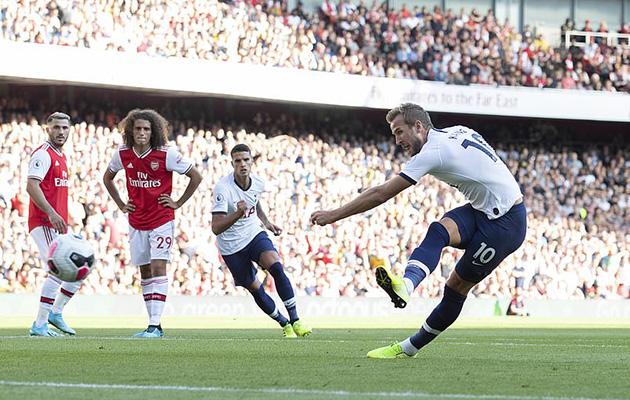 Харри Кэйн разменял первую десятку мячей в ворота АрсеналаХарри Кэйн разменял первую десятку мячей в ворота Арсенала