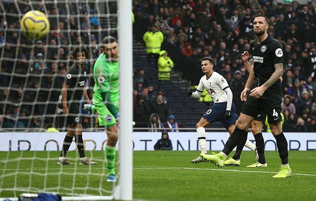 Деле Алли забил победный мяч в ворота Чаек и 5-й под руководством Моуринью